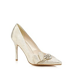 No. 1 Jenny Packham - Gold satin jewel embellished heels