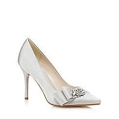 No. 1 Jenny Packham - Silver satin jewel embellished heels