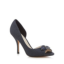 No. 1 Jenny Packham - Navy glitter heeled court shoes