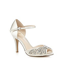 No. 1 Jenny Packham - Ivory high stiletto heel ankle strap sandals