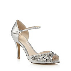 No. 1 Jenny Packham - Silver jewel embellished stiletto sandals