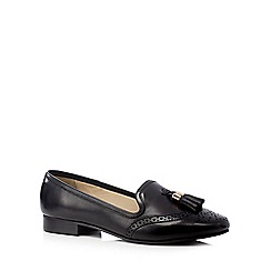 J by Jasper Conran - Black brogue leather slip on shoes
