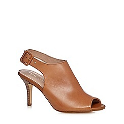 J by Jasper Conran - Tan peep toe leather shoe boots