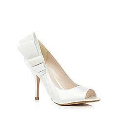 No. 1 Jenny Packham - Ivory peep toe heeled shoes