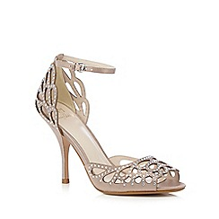 No. 1 Jenny Packham - Natural diamante trim sandals
