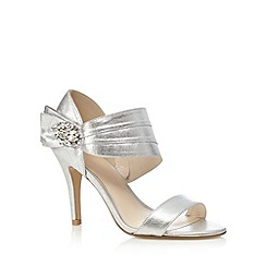 No. 1 Jenny Packham - Silver 'Polly' high stiletto heel ankle strap sandals