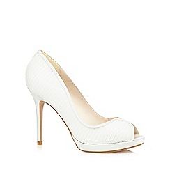 No. 1 Jenny Packham - Ivory high stiletto heel peep toe shoes