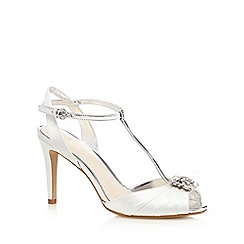 No. 1 Jenny Packham - Ivory high stiletto heel T-Bar peep toe shoes