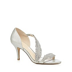 No. 1 Jenny Packham - Silver suede studded high leather sandals