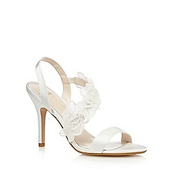 No. 1 Jenny Packham - Ivory flower satin high sandals