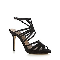 J by Jasper Conran - Black suedette mesh high sandals