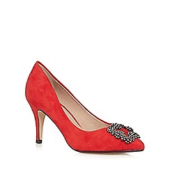 J by Jasper Conran - Red jewel embellished court shoes