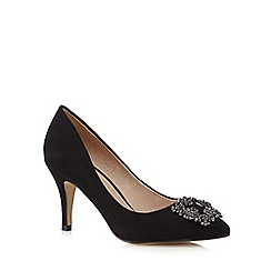 J by Jasper Conran - Black jewel embellished court shoes