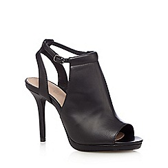 J by Jasper Conran - Black leather peep toe high sandals