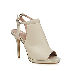 J by Jasper Conran - Grey leather peep toe high sandals