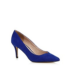 J by Jasper Conran - Blue suedette court shoes