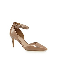 J by Jasper Conran - Cream ankle strap high court shoes