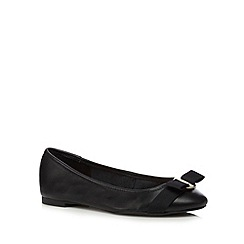 J by Jasper Conran - Black bow slip on shoes