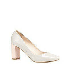 J by Jasper Conran - Grey patent high court shoes
