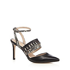 J by Jasper Conran - Black spotted print high courts shoes