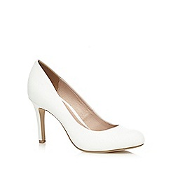 J by Jasper Conran - White textured high court shoes