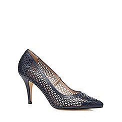 J by Jasper Conran - Navy cut-out high court shoes