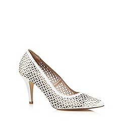 J by Jasper Conran - White cut-out high court shoes