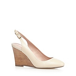 J by Jasper Conran - Cream leather high wedge sandals