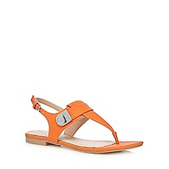 J by Jasper Conran - Orange snakeskin-effect textured sandals