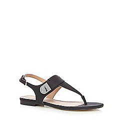 J by Jasper Conran - Black snakeskin-effect textured sandals