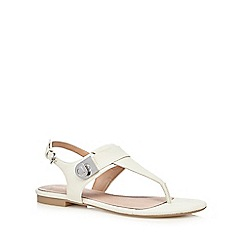 J by Jasper Conran - White snakeskin-effect textured sandals