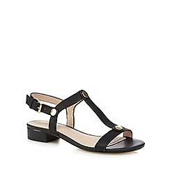 J by Jasper Conran - Black 'jemiamah' leather T-bar sandals