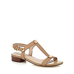 J by Jasper Conran - Beige 'jemiamah' leather T-bar sandals