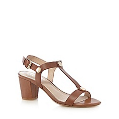J by Jasper Conran - Tan T-bar high sandals