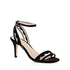 J by Jasper Conran - Black 'Jorgie' scalloped high-heeled sandals