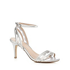J by Jasper Conran - Silver 'Jorgie' scalloped high-heeled sandals