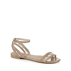 J by Jasper Conran - Tan mesh strap sandals