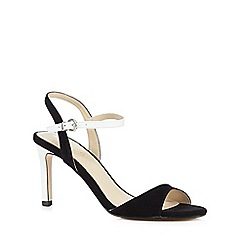 J by Jasper Conran - Black and white 'Javeria' high sandals