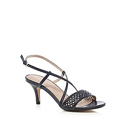 J by Jasper Conran - Navy cut-out mid sandals