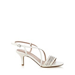 J by Jasper Conran - White cut-out mid sandals