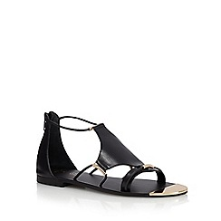 J by Jasper Conran - Black leather sandals
