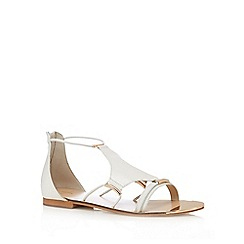 J by Jasper Conran - White leather sandals