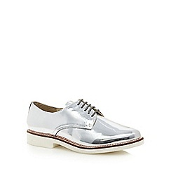 RJR.John Rocha - Silver patent leather flat shoes
