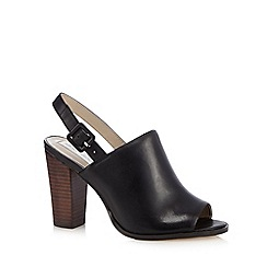 RJR.John Rocha - Black leather peep toe high sandals