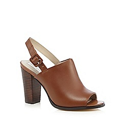 RJR.John Rocha - Tan leather peep toe high sandals
