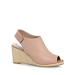 RJR.John Rocha - Light pink leather high wedge sandals