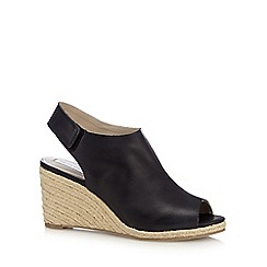RJR.John Rocha - Black leather high wedge sandals