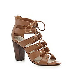 RJR.John Rocha - Tan lace up high sandals