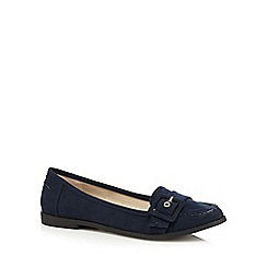 Principles by Ben de Lisi - Navy suedette loafer shoes