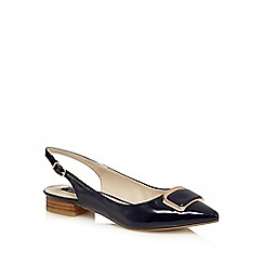 Principles by Ben de Lisi - Navy patent buckle slip-on shoes